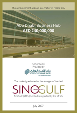 SinoGulf Investments Abu Dhabi Business Hub
